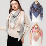 2020 Women Cashmere Winter Scarf Knit Pashmina Bandana Plaid Female Warm Triangle Scarves Blanket Shawls and Wraps Bufanda