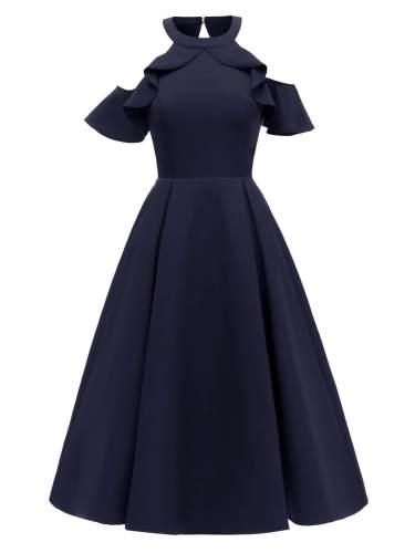 1950s Cold Shoulder Wedding Guest Dress