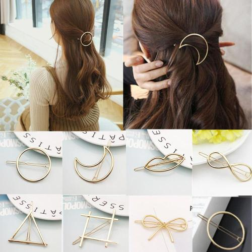 1Pc Metal Moon Bowknot Hair Clip Hairband Comb Bobby Pin Barrette Hairpin Headdress Accessories Beauty Styling Tools New Arrival