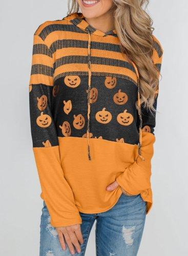 Halloween Print Funny Pullover Hoodie