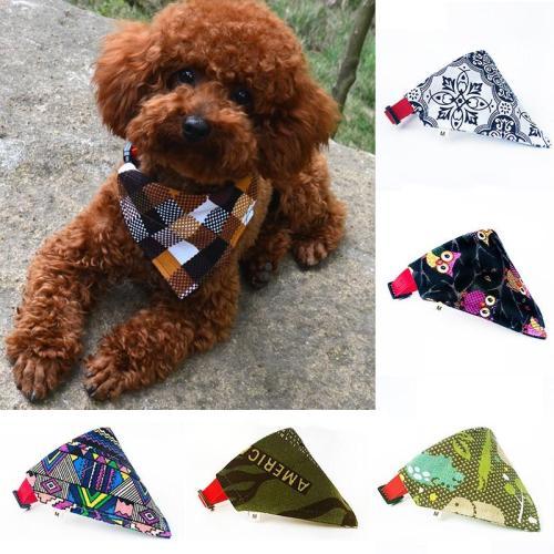 15Color dog Bandana Bibs Dog Scarf Collar Adjustable Pet Neckerchief Scarf Waterproof Saliva Towel for Small Medium Large Dogs