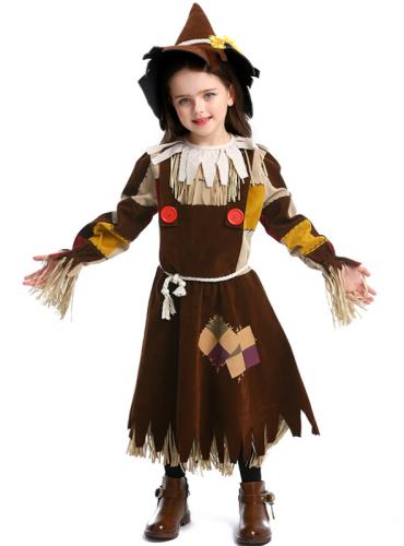 Kids Wizard of Oz Scarecrow Halloween Clother