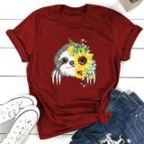 Shu Lai Xiong Daisy Print Short Sleeve Women's T-shirt