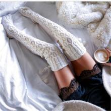 Fashion Knit Wool Ball Wool Socks