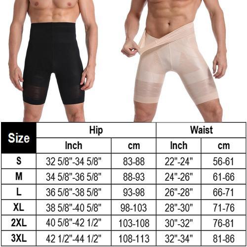 Men Body Shaper Compression Shorts Slimming Shapewear High Waist Pants Belly Control Waist Trainer Modeling Belt Male Underwear