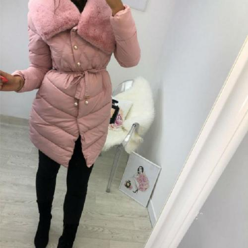 Fashion Pure Colour Turndown Collar Belted Long Sleeve Coat