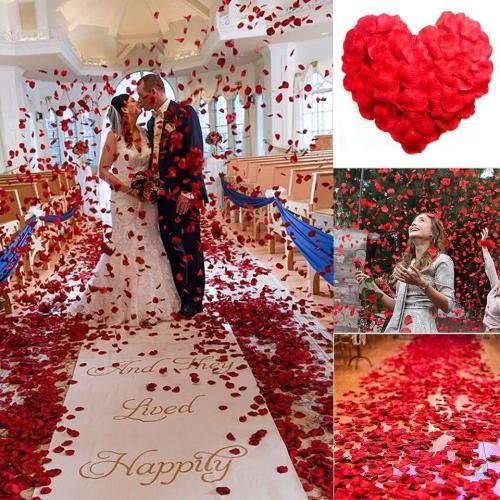 100Pcs Artificial Rose Petals Colorful Wedding Romantic Silk Rose Flower for Wedding Decoration Supplies Wholesale