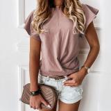 Ruffled Short Sleeve T-shirt