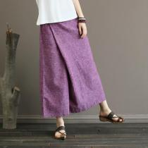 Cotton and Linen Skirt Pants