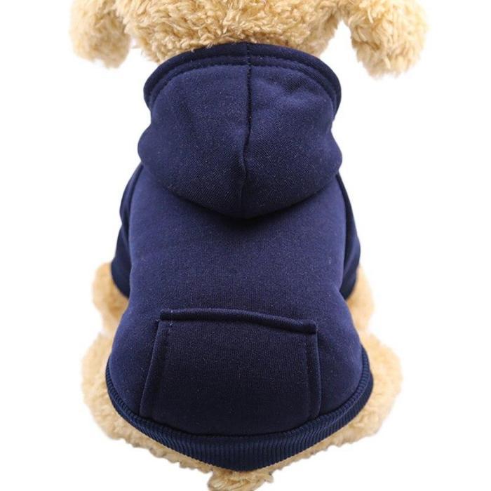 XS-2XL Pet Dog Hoodie Coat Soft Fleece Winter Warm Puppy Clothes Hot Sale Dog Sweatshirt Dog Costume For Small Dogs Pet Supplies