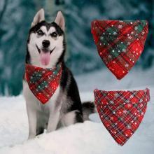 Christmas Cat dog bandana Bibs Scarf Collar Pet Neckerchief Scarf Waterproof Saliva Towel for Medium Large Dog Accessories Z918