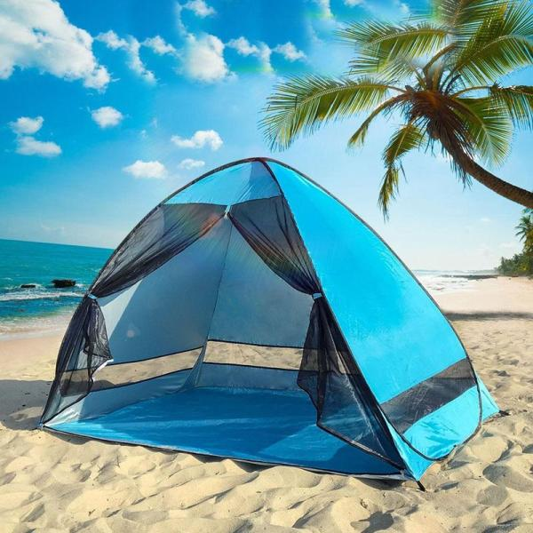 Anti-mosquito Beach Camping Tent Shade UV Protection Automatic Outdoor Portable Tent With Mesh Curtain Camping Shelter