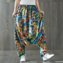 Colorful Plus Size Cotton Harem Pants