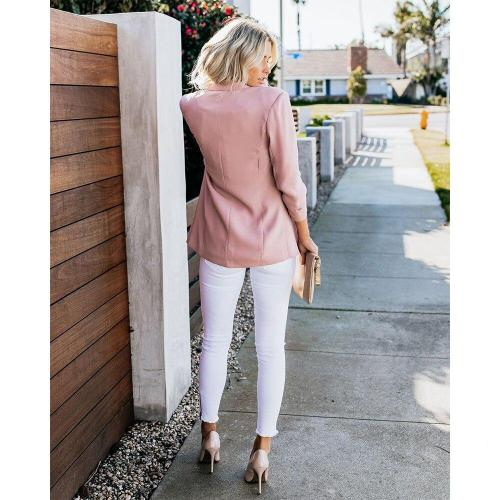 Fashion Basic Blazer Jacket Women Spring Autumn Casual Plus Size Long Sleeve Slim Solid Coats Office Ladies Outwear Chic Tops