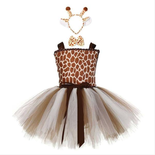 Girls Halloween Tutu Dress Costumes Toddler Giraffe Ball Gown Dress Kids Carnival Party Princess Dress