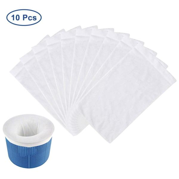 10PCS Round Pool Skimmer Socks Household Perfect Savers For Filters Baskets Skimmers Net Filter Sock Bag Filter Bag