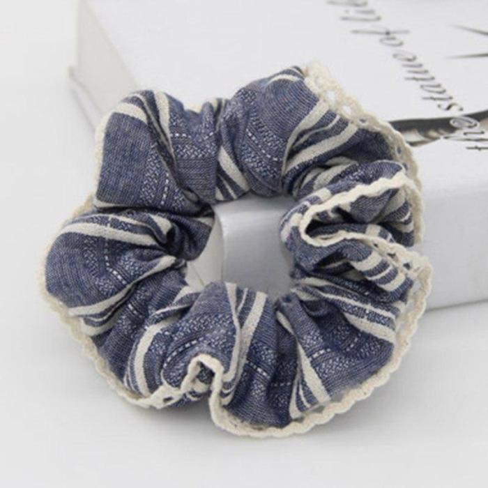 EBUYTIDE Women Scrunchie Plaid Design Girl Hair Tie Ponytail Elastic Hair Holder Rope Fashion Hair Accessories FCD107