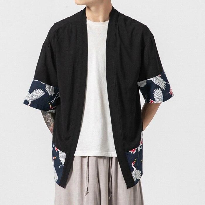 Kimono men Japanese kimono traditional samurai costume japanese clothing blouse shirt haori yukata men jacket