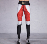 Christmas High-Waisted Contrast Color Pants