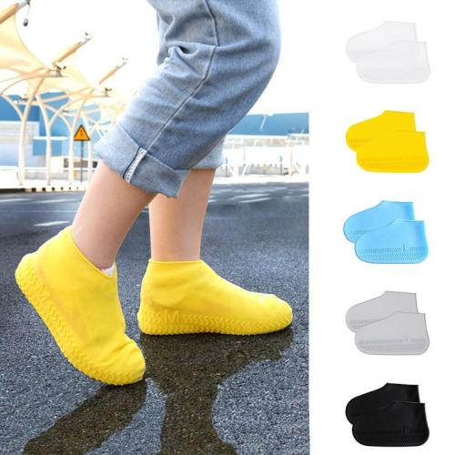 Reusable Silicone Shoe Covers Unisex Waterproof Shoe Case Non-slip Shoes Protector Outdoor Rain Boot Indoor Dustproof Foot Cover