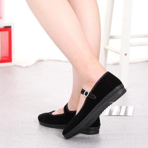 Women Mary Janes Flats Spring Loafers Ladies Buckle Strap Black Casual Fabric Mother Shoes Female Comfort Breathable Footwear 20