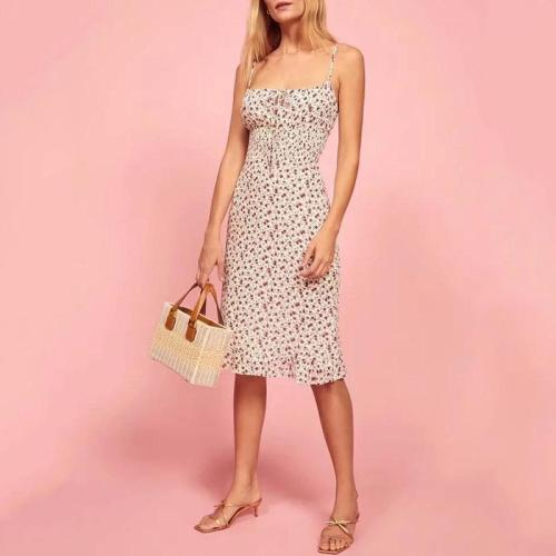 Sexy Sling French Floral Dress zrs55