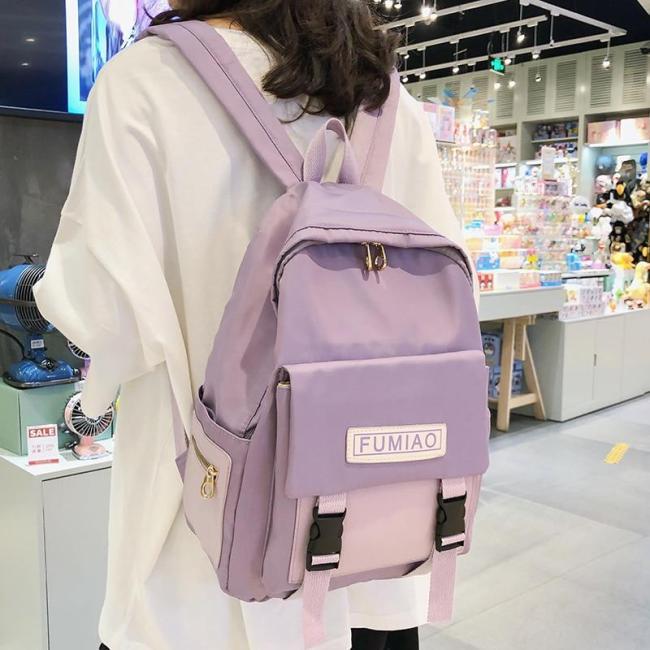 Cute Waterproof Buckle Backpack Women Fashion School Bags For Teenage Girls Nylon Backpack Harajuku Female Bag Ladies Luxury new