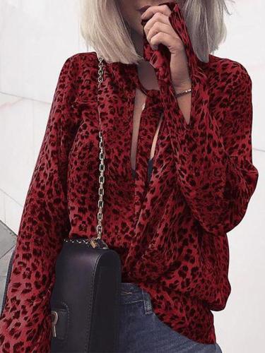 Fashion Leopard Print Long Sleeve Shirt