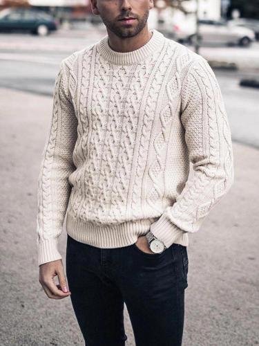 Simple men's crew neck sweater