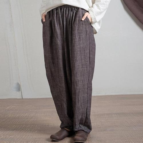 Grey Pleated Palazzo Pants