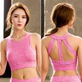 EBUYTIDE Sports Bra Push Up Women Tops Full Cup Breathable Shockproof Cross Back Workout Fitness Yoga Bra For Women Sportswear Running
