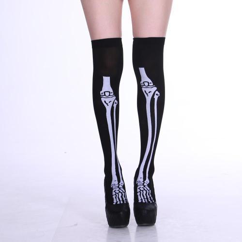 NEW Women Socks Halloween Skull Socks Cosplay Costume Party Printed Socks Stylish Girls Sockings Carnival Chaussette Lady Meias