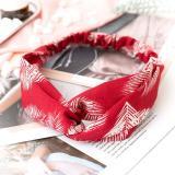 New Fashion Women Headband Print Plants Flowers Hair Band Cross Knot Turban Bandage Vintage Head Wrap Hair Accessories