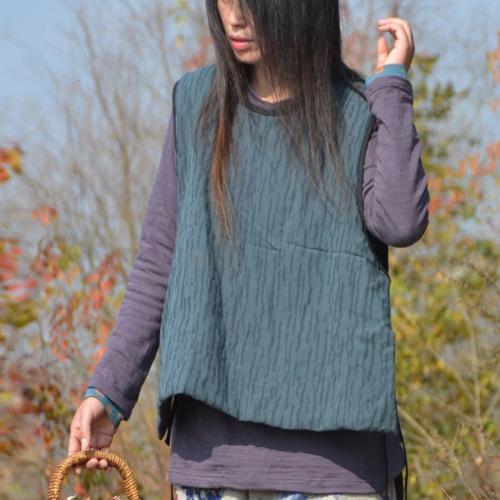 Cotton Linen Loose Spring Vest