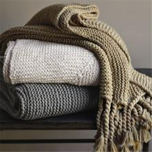 2020 Home Decoration Nordic Style Casual Knitted Blanket Tassel Knit Throw Blankets for Sofa Bed Cover Plaids Bedpread cobertor