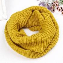 Women Winter Warm 2 Circle Cable Knit Cowl  Neck Long Scarf Shawl WJ3