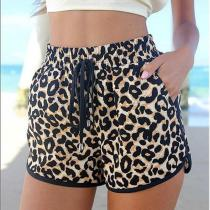 Woman Yoga Shorts Leopard Workout Yoga Sports Shorts For Women Sport Wear Running Cycling Hot Gym Short Fitness Women's