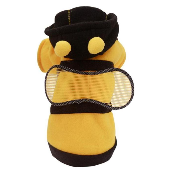 Pet Dress-Up Costume Cute Dog One-Piece Clothes Pet Costume Four-Leg Bee Cosplay Clothes For Cat Dogs Costumes Size XS-XL