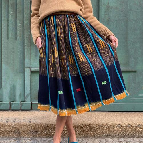 Fashion ladies printed mixed color skirt RY58