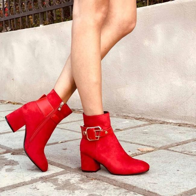 Women's Fashion Solid Color Suede Ankle Boots