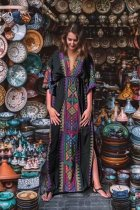 Maxi Boho  Dress, Beach Dress, Kaftan, Tribal Soul