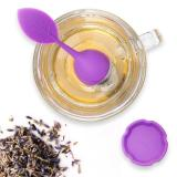 Silicone Tea Infuser Stainless Steel Cute Tea Ball Sweet Leaf Tea Strainer for Brewing Device Herbal Spice Filter Kitchen Tools