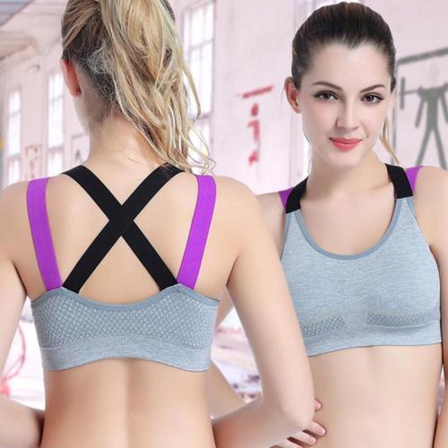 EBUYTIDE Sport Top Bra Push Up Brassiere Sports Tops Bra Fitness For Women Cross Back Push Up Bra For Women Sport Gym Running Yoga Bra