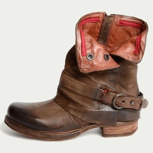 Wide Calf Low Heel Martin Boots