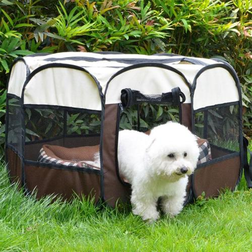 Portable Folding Pet Big Tent Dog House Cage Dog Cat Tent Playpen Puppy Kennel Easy Operation Durable Outdoor Octagon Fence