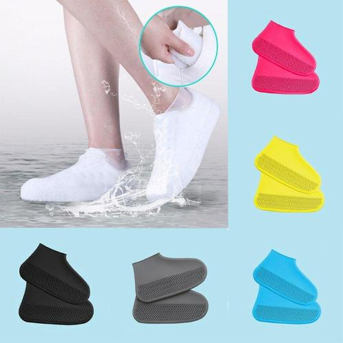 1 Pair Shoe Covers Reusable Waterproof Rain Boot Covers Non-slip Classic Shoe Accessories Silicone Thickened Outdoor Overshoes