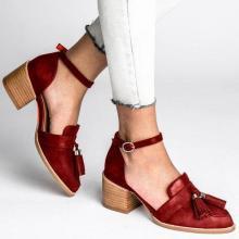 Women Summer Bouvier Middle Heel Tassel Sandals