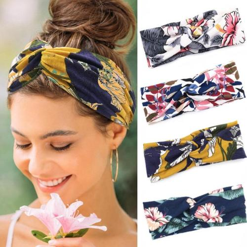 Women Headband Fashion Flower Turban Vintage Cross Knot Elastic Hairbands Face Wash Hair Band Girls Hair Accessories Haarband