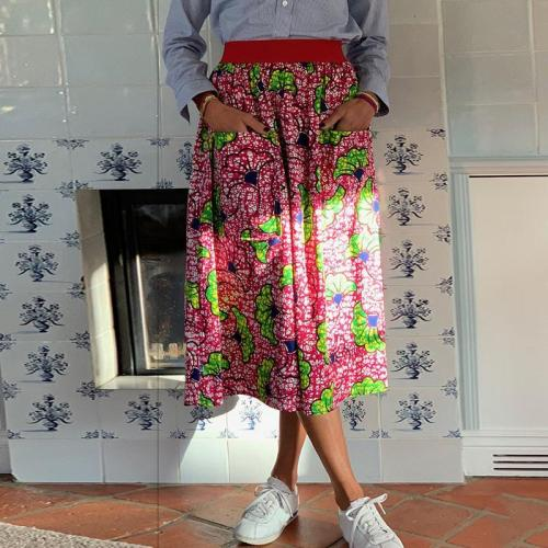 Women's Fashion Casual Floral Print Skirt RY58