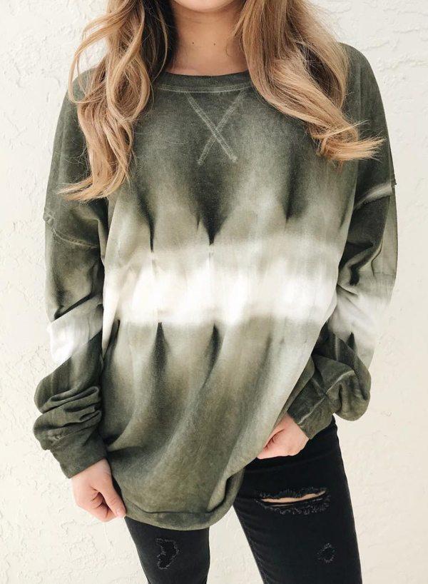 Long Sleeve Tie Dye Sweatshirts